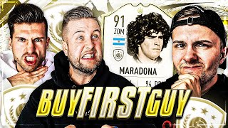 FIFA 20: MARADONA ICON Hardcore Buy First Guy ( Baby ICON EDITION) vs ICON DiscardBrother 😱🔥