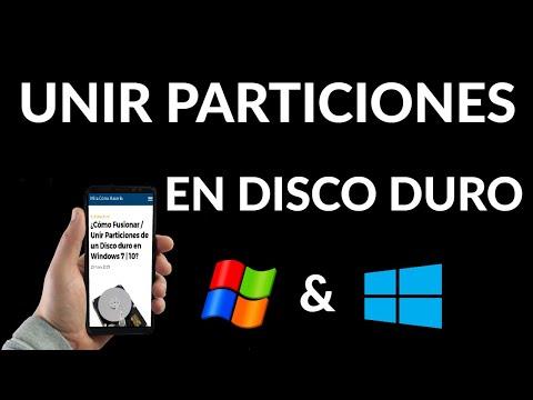 Cómo Fusionar o Unir Particiones de un Disco Duro en Windows 7 | 10