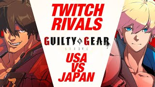 Guilty Gear Strive Twitch Rivals Showdown USA VS Japan 8V8 (Matches Only!!) WITH TIMESTAMPS!!