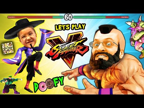 LET'S FIGHT in STREET FIGHTER 5! Doofy Butt Scratching Donuts FGTEEV Mike & Duddy Gameplay