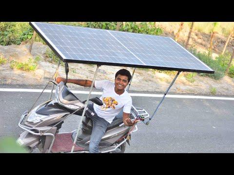 We Made Unlimited Range Solar Powered Electric Bike