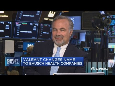 Valeant changes name to Bausch Health Companies, CEO explains why