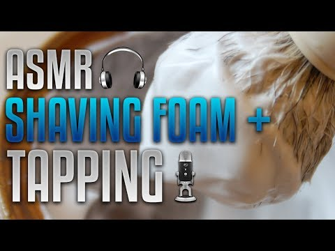 ASMR Shaving Foam/Cream & Fast Tapping | Sounds For Sleeping And Deep Relaxation