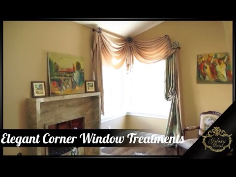 Elegant Corner Window Treatments | Galaxy-Design Video # 153