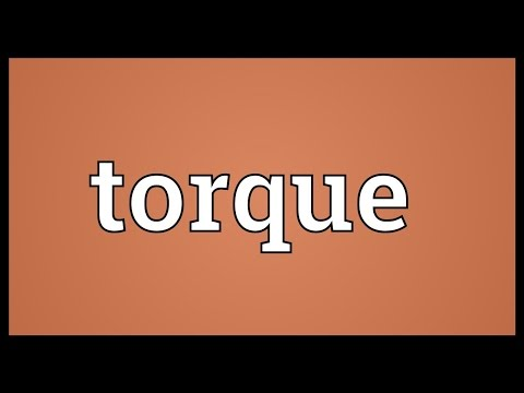 Torque Meaning