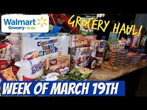 WEEKLY GROCERY HAUL   WALMART   FAMILY OF 4   3/19/18