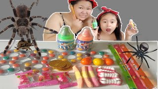 """Funny""ASMR Mukbang Gummy Jelly,Chocolate Coin,Candy,Fedding Bottle Candy