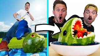 Best Watermelon Art WINS! *Bad Tools Challenge*