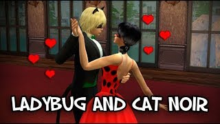 Miraculous Ladybug - Ladybug and Cat Noir Behind the Mask - The Sims 4