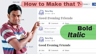 How to Make Facebook Twitter Pinterest Instagram Status Bold Italic Very Easily | In Hindi