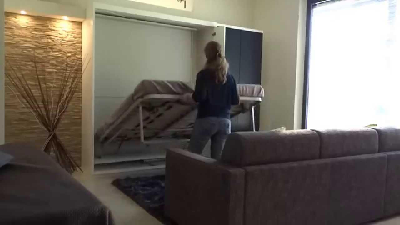 armoire lit pivotante metropolis youtube. Black Bedroom Furniture Sets. Home Design Ideas