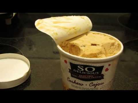 So Delicious Cashew Milk Salted Caramel Clusters Ice Cream Review
