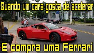 Ferrari vs Porsche Só acelerada forte na Avenida Europa