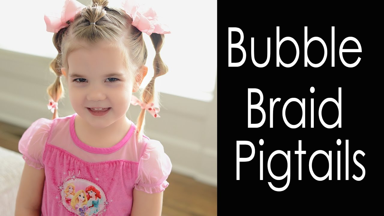 bubble braid pigtails - hairstyles for toddlers - fine hair - youtube