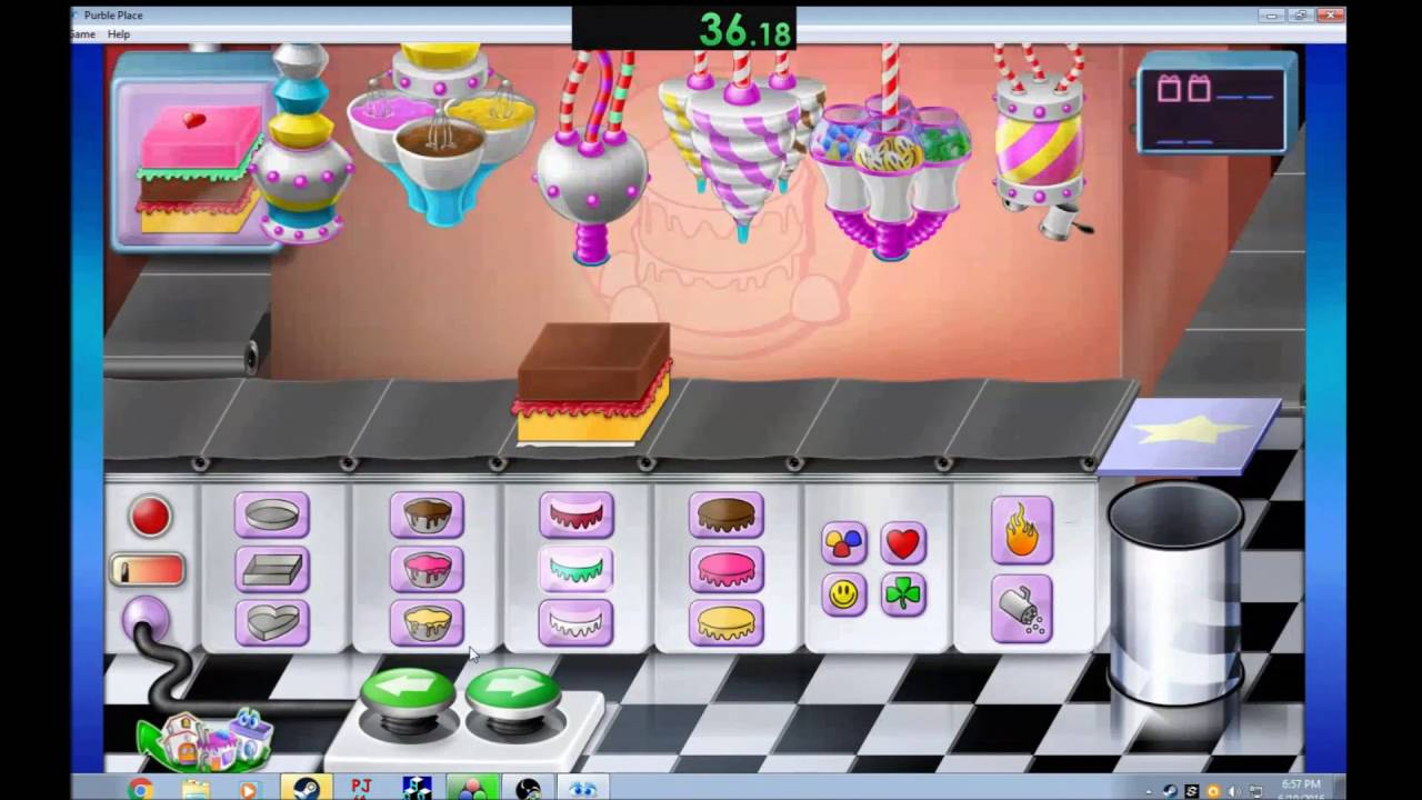 purble place cake games