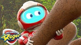 Space Ranger Roger | T-Rex Dinosaur Bones | 2017 Cartoons For Children | Cartoons For Kids