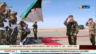 الفريق احمد قايد صالح في زيارة عمل الى الناحية العسكرية الثالثة ببشار