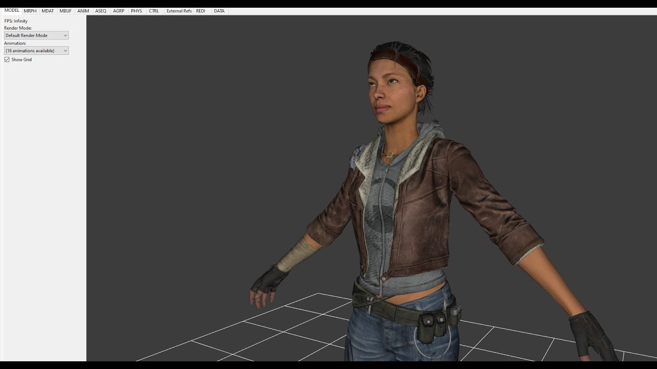 Looking at the Models for Half-Life: Alyx (and original alyx ...