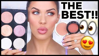 THE BEST BRONZERS, BLUSHES & HIGHLIGHTERS OF 2018!! YEARLY BEAUTY FAVORITES!!