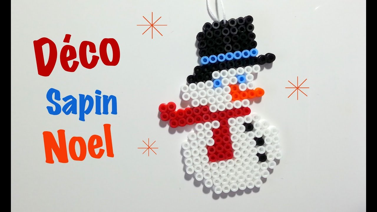 Diy d co sapin de noel en perles hama youtube for Decoration sapin de noel americain