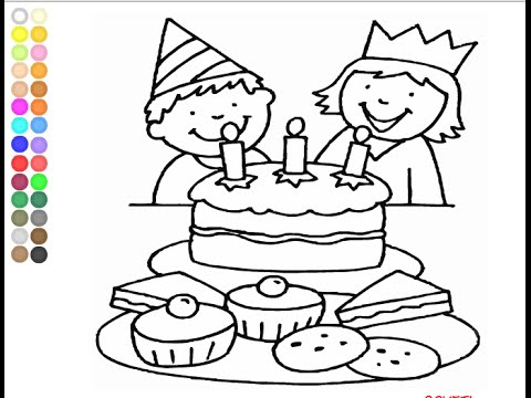 Happy Birthday Coloring Pages for Kids  Happy Birthday Coloring
