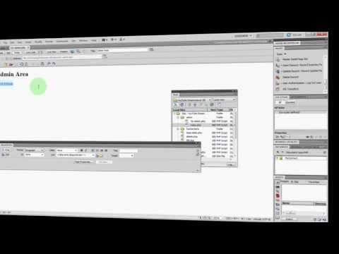 Dreamweaver Database (PHP/MySQL) ตอนที่ 12 สร้างระบบ Login/Logout