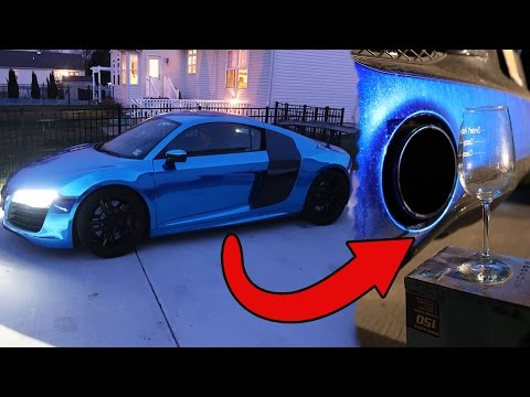 WILL IT BREAK? WINE GLASS VS AUDI R8 EXHAUST