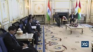 Indian delegation meets with Kurdistan Region PM Masrour Barzani Video