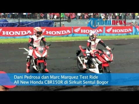 Dani Pedrosa dan Marc Marquez Test Ride Honda CBR150R di Sentul