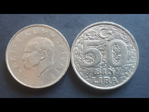 Turkish Inflation Coins Of The Late 1990s