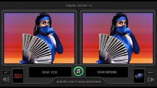 Mortal Kombat II (Sega 32X vs Sega Saturn) Side by Side Comparison
