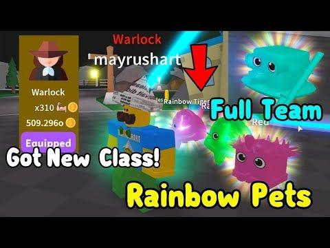 Crafting Full Team Of Rainbow Pets & Unlocked New Class Warlock! TOO STRONG! - Saber Simulator