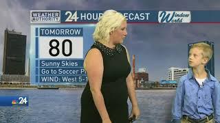 Weather Kid Christian Joins Meteorologist Kimberly Newman