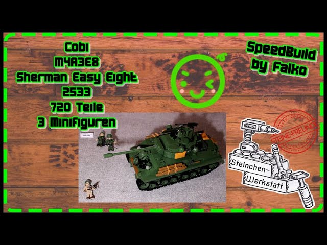 Cobi | M4A3E8 | 2533 | Sherman Panzer | Easy Eight | SpeedBuild | Steinchen-Werkstatt