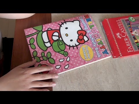 Whisper 53 Coloring a Hello Kitty Book  YouTube