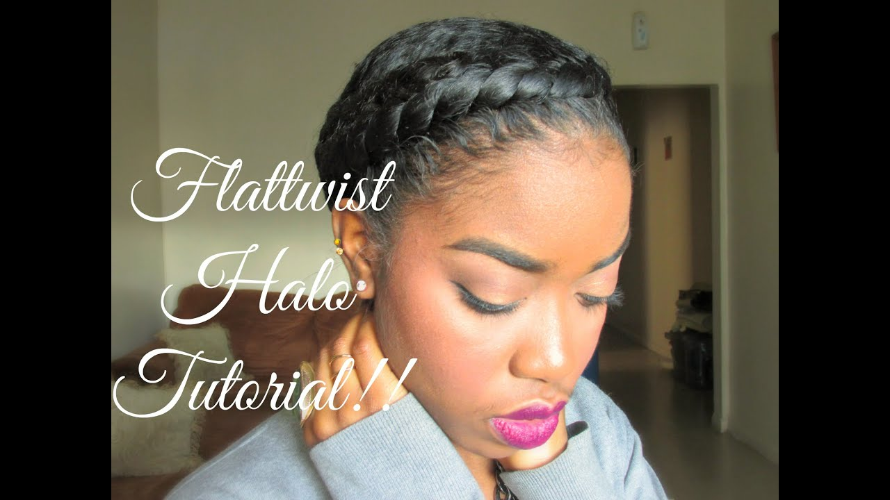 Natural Hair Style: Protective Styling Halo Tutorial!!