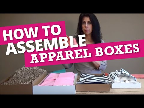 How To Assemble Apparel Boxes & Add Tissue Paper | Nashville Wraps