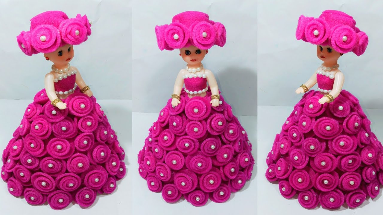 Diy Doll Decoration From Foam Sheet Gudia Sajane Ka Tarika