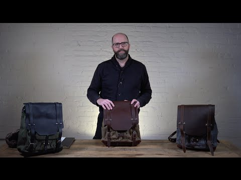 Crafted Leather and Canvas Laptop Backpack | The Leather Backpack by Pad & Quill Review