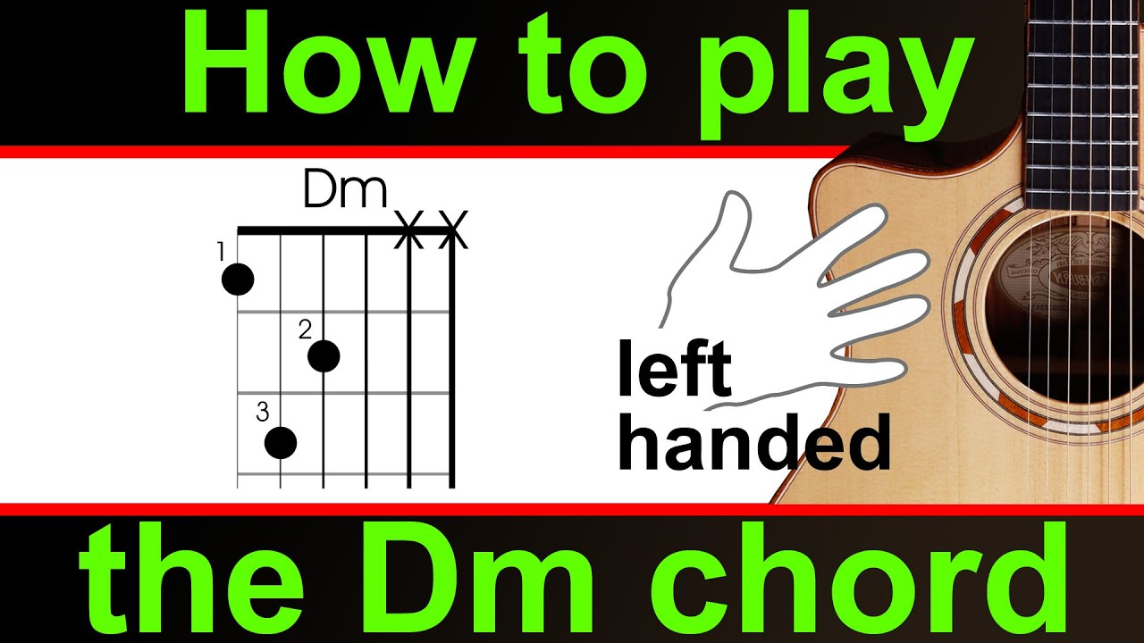 How To Play D Minor Dm Guitar Chord Left Handed Version Youtube