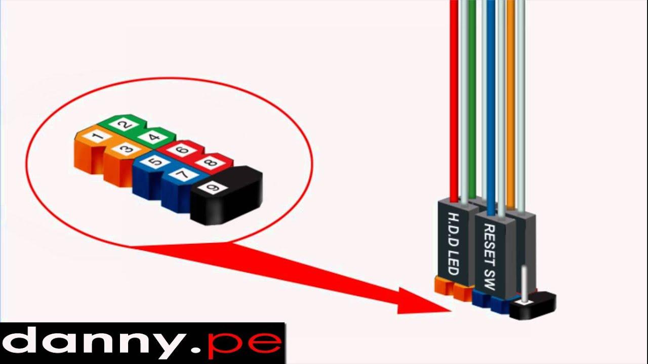 Motherboard Wiring Diagram Power Reset Blank Of Synapse Conexión Del Panel Frontal De La - Youtube