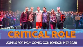 Critical Role Return to MCM London Comic Con | MCM Comic Con 2020