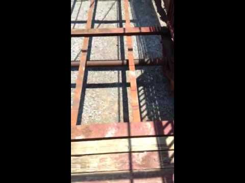 Welding repair and restoration on cattle trailer