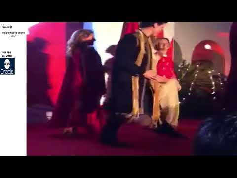 """Justin Trudeau performing """"spontaneous"""" Indian dance on stage during his India visit"""