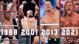 All WWE Royal Rumble Winners 1988 2021 Todos los Ganadores de Royal Rumble