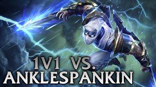 League of Legends | 1v1 vs Anklespankin + Giveaway