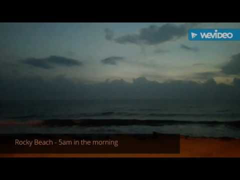 Pondicherry Beach View - Beautiful Rocky Beach and Gandhi beach full length