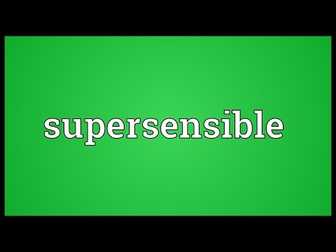 Header of supersensible
