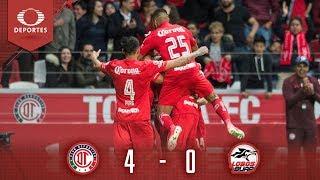 Resumen: Toluca 4 - 0 Lobos BUAP | Clausura 2019 - J17 | Televisa Deportes
