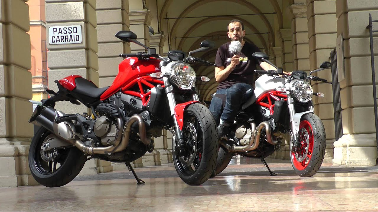 essai ducati monster 821 le petit monstre a deux t tes youtube. Black Bedroom Furniture Sets. Home Design Ideas